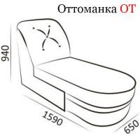 Оттоманка ОТ2 с ящиком ( Гранд 1Б-06 )