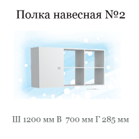 Полка №2 (Группа 10 фасад ЛДСП с рисунком)